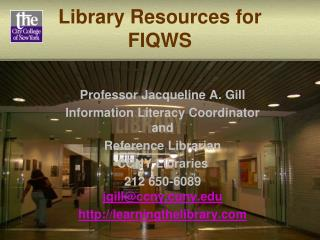 Library Resources for FIQWS