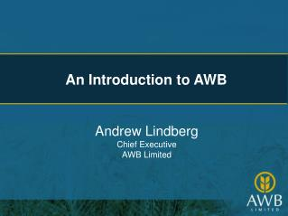 An Introduction to AWB