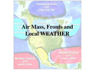 Air Mass, Fronts and Local WEATHER