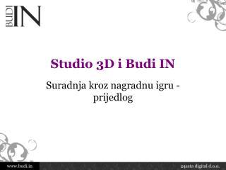 Studio 3D i Budi IN