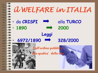 il WELFARE in ITALIA