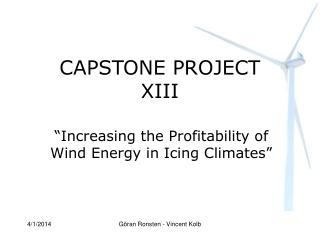 CAPSTONE PROJECT XIII