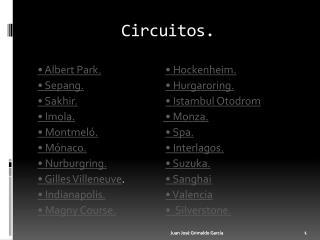 Circuitos.