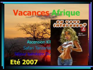 Vacances Afrique