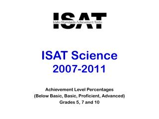 ISAT Science 2007-2011