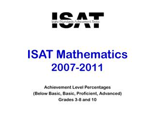 ISAT Mathematics  2007-2011