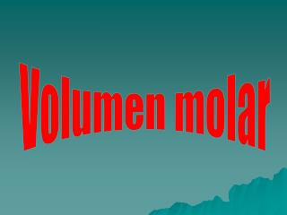Volumen molar