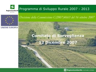 Programma di Sviluppo Rurale 2007 - 2013