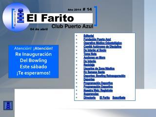 Editorial Fundación Puerto Azul  Operativo Médico Odontológico Comité Autónomo de Disciplina