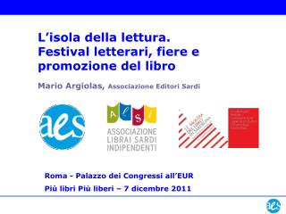 Mario Argiolas,  Associazione Editori Sardi