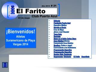 Editorial Fundación Puerto Azul  Operativo Médico Servicio al Socio Cruz de Mayo