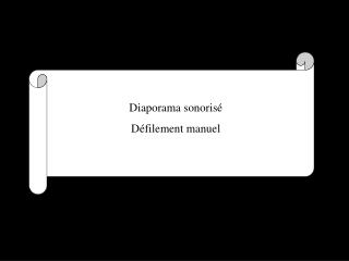 Diaporama sonoris  D filement manuel