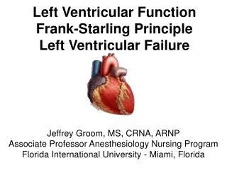 Left Ventricular Function Frank-Starling Principle Left Ventricular Failure
