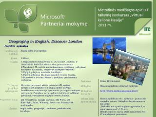Geography in English. Discover London