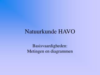 Natuurkunde HAVO