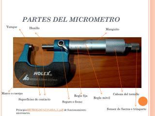 PARTES DEL MICROMETRO