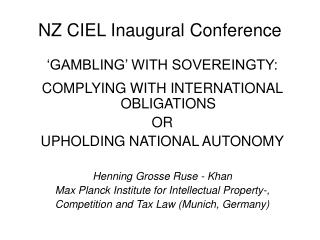 NZ CIEL Inaugural Conference