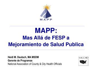 Heidi M. Deutsch, MA MSDM Gerente de Programas