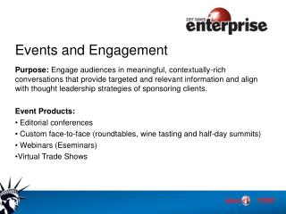 Events and Engagement