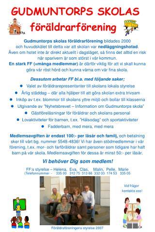 GUDMUNTORPS SKOLAS  föräldrarförening