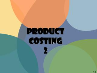 PRODUCT  COSTING 2