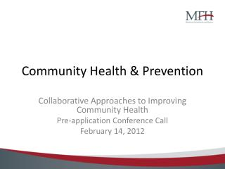Community Health & Prevention