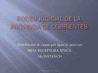 PODER JUDICIAL DE LA Provincia De corrientes