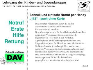 Lehrgang der Kinder- und Jugendgruppe 23. bis 25. 04. 2004, Wilhelm-Dieckmann-Hütte Schmilka