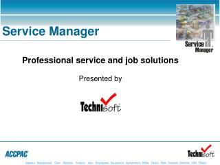 Professional service and job solutions Presented by
