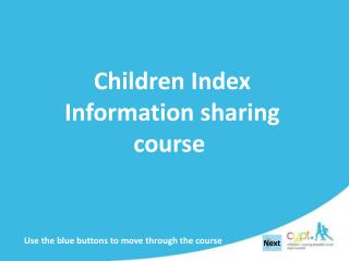 Children Index  Information sharing course