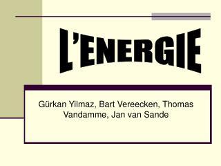 G�rkan Yilmaz, Bart Vereecken, Thomas Vandamme, Jan van Sande