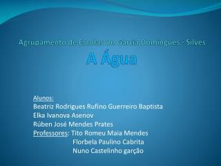 Agrupamento de Escolas Dr. Garcia Domingues - Silves A �gua