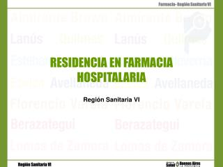 RESIDENCIA EN FARMACIA HOSPITALARIA