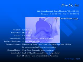 Five Cs, Inc