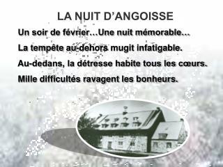 LA NUIT D'ANGOISSE