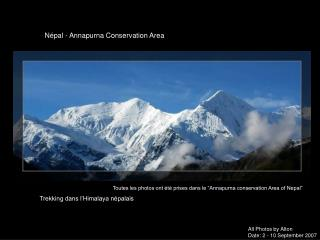 Trekking dans l'Himalaya népalais