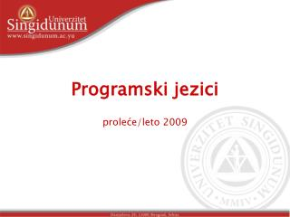 Programski jezici