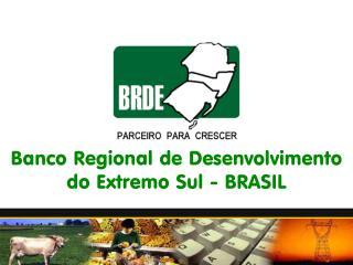 Banco Regional de Desenvolvimento do Extremo Sul - BRASIL