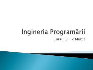 Ingineria  Program ării