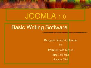JOOMLA  1.0
