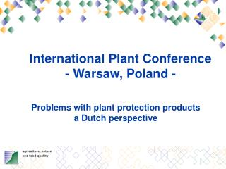 International Plant Conference  - Warsaw, Poland -