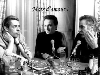 Mots d'amour !
