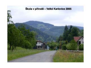 Škola v přírodě – Velké Karlovice 2005