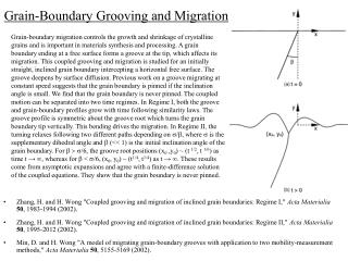 Grain-Boundary Grooving and Migration