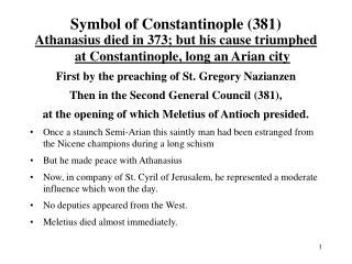 Symbol of Constantinople 381