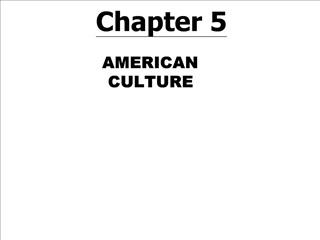 American Culture PRISMs