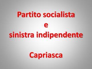 Partito socialista e sinistra indipendente Capriasca