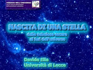 Davide EliaNascita di una stella21 aprile 2005