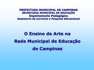 O Ensino de Arte na  Rede Municipal de Educação  de Campinas