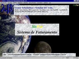 Site  : leonarinformatica.br  - E-mail: contato@leonarinformatica.br